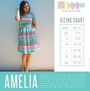LuLaRoe Dresses - LuLaRoe Amelia Dress